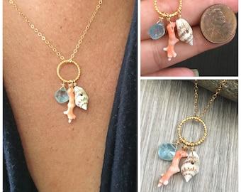 Raised texture Fish Pendant Bohemian Pendant Ocean Themed Necklace Ocean lovers Beach Jewelry