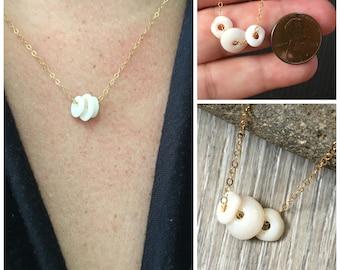Puka Shell Necklace, Floating Puka Shell Necklace, Hawaiian Puka Shells, Seashell Necklace, Hawaiian Jewelry,  Puka Seashell, Beachy Jewelry