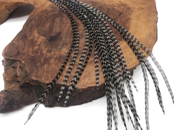 10 Pieces ORANGE Thin Long Grizzly Rooster Feathers