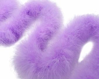 Marabou Boa, 2 Yards - Lavender Turkey Medium Weight Marabou Feather Boa 25 Gram Halloween Craft Supply : 2250