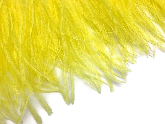 6 Inch Strip Gold Ostrich Fringe Trim Feather Halloween Wedding Party Dress