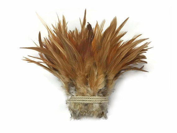 """1 Yard 6-7/"""" Natural White Strung Chinese Rooster Saddle Wholesale Feathers ..."""