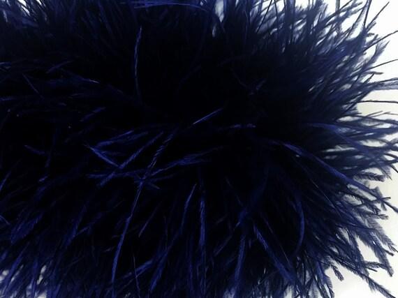 Vente en gros de 10 verges - - - plumes d'autruche bleu marine frange garniture gros plume (en vrac): 4515 07aadf