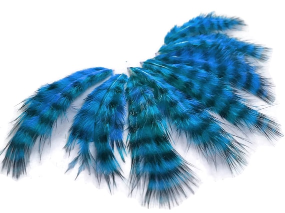 1 Dozen USA SELLER Solid Light Blue Rooster Chickabou Fluff Feathers