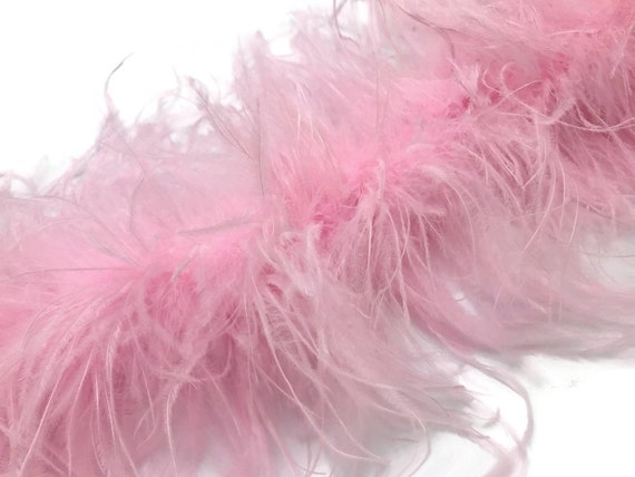 10 Yards Hot Pink Ostrich Fringe Trim Wholesale Feather 2 Ply Halloween Dress