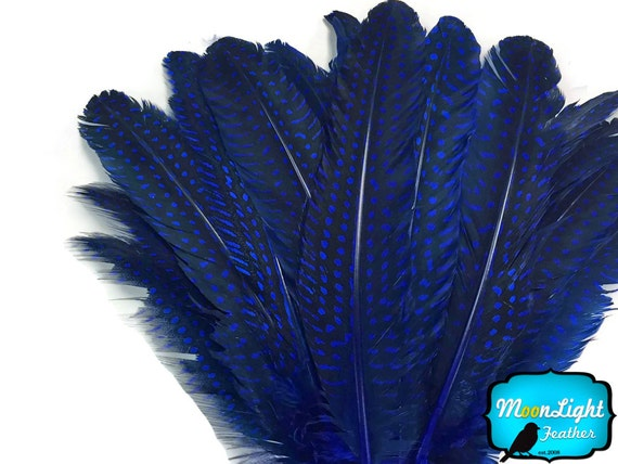 """Spotted Guinea Hen Feathers 1-4/"""" Body Plumage ORANGE dyed 1//4 oz bag"""