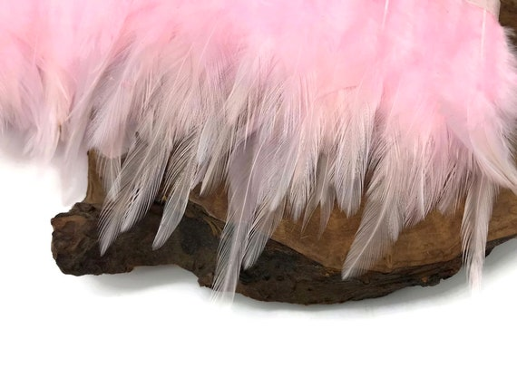 COSTUMES FORMAL STRUNG ROOSTER NECK HACKLE OFF  WHITE 18 INCHES HATS CRAFTS
