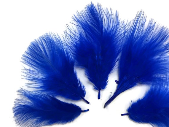 Navy Blue Turkey Marabou Short Down Fluff Loose Feathers 0.10 Oz Craft 1 Pack