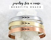 Jewelry for a Cause DSACO Down Syndrome Association of Central Ohio The Lucky Few Three Arrows Adjustable Cuff Bracelet