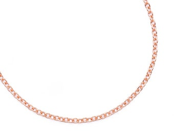 12 Bronze Tone Textured Chain Necklace 0.8mm thick 24/""