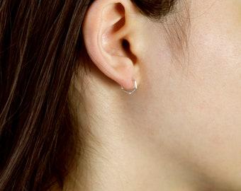 12mm Titanium seamless hoop earrings lightweight hypoallergenic sleepers
