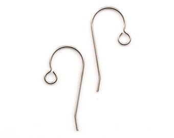 pure Titanium New French wires for jewelry 100 pieces Titanium EAR WIRE HOOKS