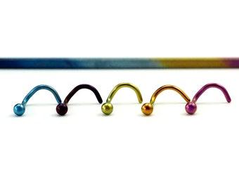 Basic Ball Nose Stud in Titanium - Hypoallergenic - 20 Custom Colors