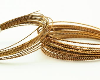 24 Ga 10 Ft See Description Fancy Twisted Solid Brass Wire Made In USA
