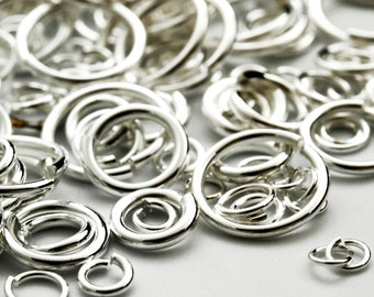 100 Jump Rings 8mm 17g Anodized tempered aluminum 100 jumprings choose color