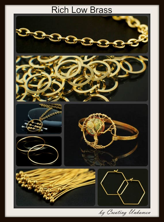 10 FT Nu Gold for wire wrapping and beading Jeweler/'s Bronze 16G Square HH