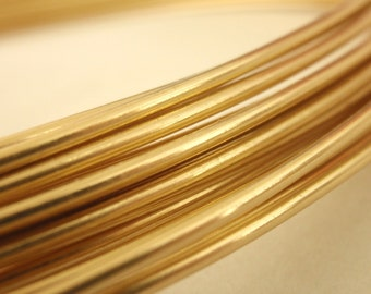 Rich Low Brass Wire - You Pick 4, 6, 8, 10, 12, 14, 16, 18, 20, 21, 22, 24, 26, 28, 30 gauge - 100 Percent Guarantee