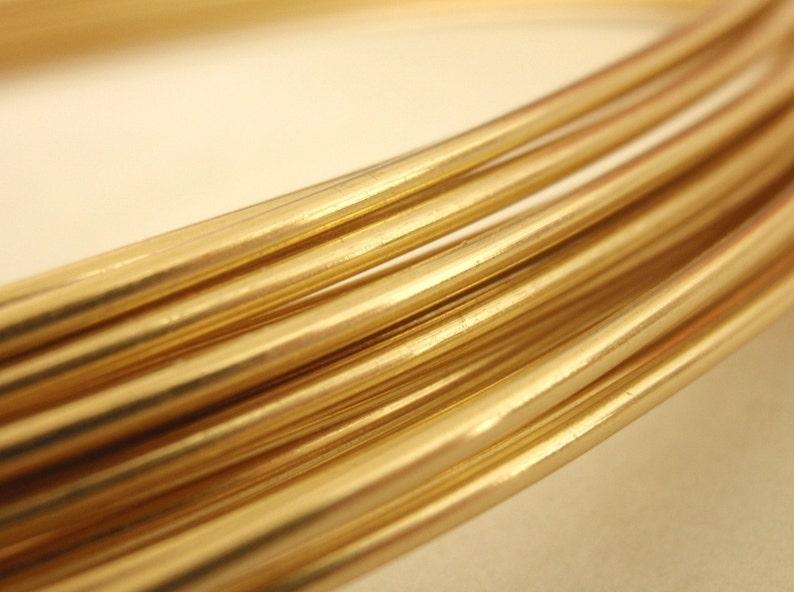 Rich Low Brass Wire - You Pick 4, 6, 8, 10, 12, 14, 16, 18, 20, 21, 22, 24, 26, 28, 30 gauge - 100 Percent Guarantee photo