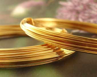 24kt Gold Plated Wire with Copper Core - Half Hard - You Pick Gauge 18, 20, 22, 24, 26 - 100% Guarantee