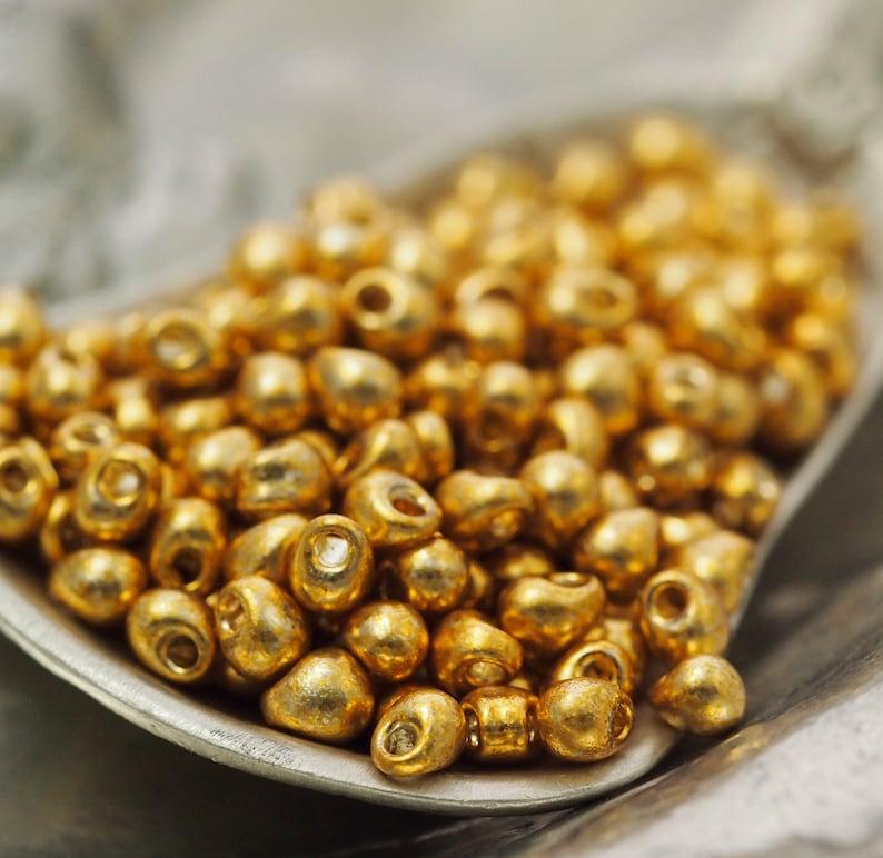 Galvanized Gold Miyuki Mini Fringe Beads 12 24 or 48 grams