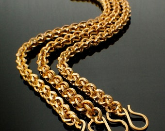 Square Brass Chainmail Bracelet Kit - Intermediate Jens Pind Weave - Flat, On Edge or Twisted