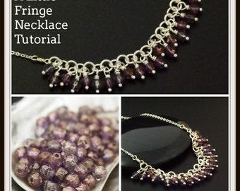 A Little Fringe Necklace Tutorial