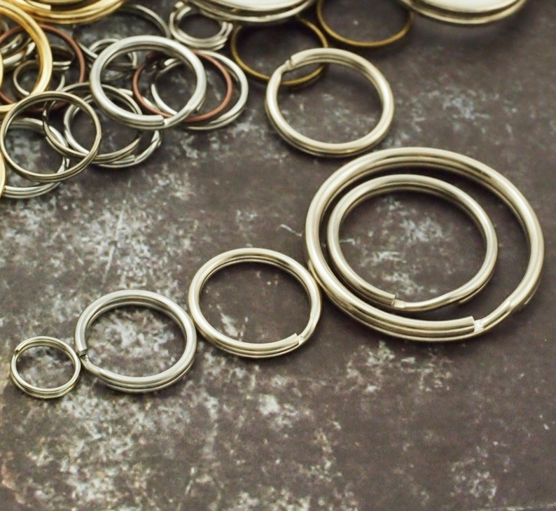 Stainless Steel Split Rings  You Pick Size  5mm 6mm 6.5mm image 0