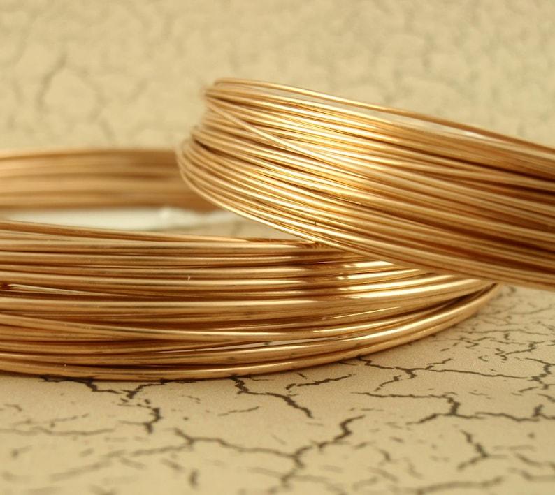 Round Solid Bronze Wire - 100% Guarantee - 4 gauge - 28 gauge photo