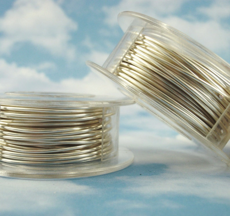 Non Tarnish Silver Plated Wire  Large Coil  You Pick Gauge image 0