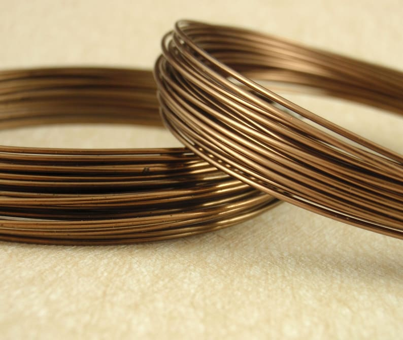 Premium Antique Brass Colored Wire Half Hard Non Tarnish - You Pick Gauge 20, 22, 24, 26 - 100% Guarantee photo