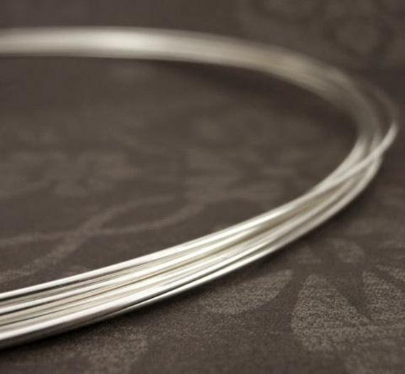 Sterling Silver Alternative 10 Feet White Brass for wire wrapping 22G Round DS
