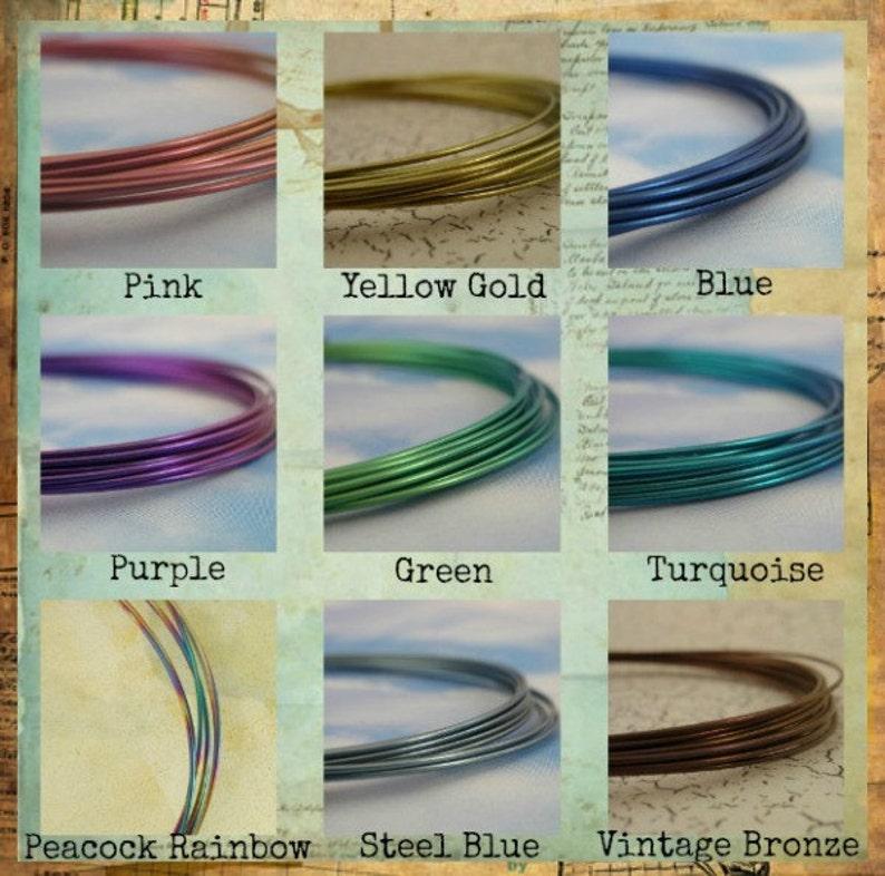 Niobium Wire - Hypoallergenic - You Pick the Color - 10, 12, 14, 16, 18, 20, 22, 24, 26, 28 gauge -  100% Guarantee photo