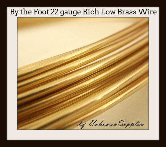 By the Foot 22 gauge Rich Low Brass Wire Solid Raw Metal | Etsy