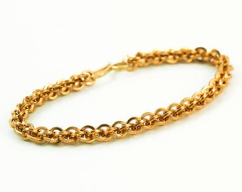 Brass Bracelet in Square Jens Pind Chainmaille Weave