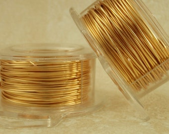 Gold Colored Wire - Non Tarnish - You Pick Feet and Gauge 12, 14, 16, 18, 20, 21, 22, 24, 26, 28, 30, 32 or 34 - 100% Guarantee