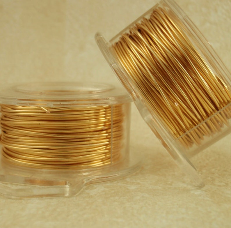 Gold Colored Wire  Non Tarnish  You Pick Feet and Gauge 12 image 0