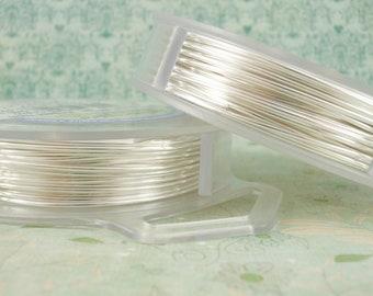 Non Tarnish Silver Plated Artistic Wire - Permanently Colored - Pick 10, 12, 14, 16, 18, 20, 22, 24, 26, 28, 30, 32, 34g - 100% Guarantee