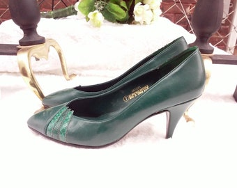 cd4e6618d4e shoes   80s vintage   forest green   all man made materials   size 7    savannahwillow