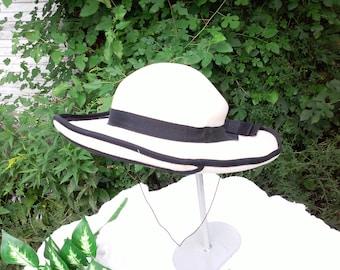 5f7c44d6f33 adolfo II hats   womens   90s vintage   ribbon   black trim   savannahwillow