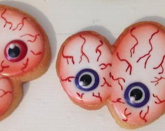 Halloween Cookies Spooky Eyeballs - 1 dozen