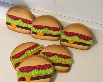 Cheeseburger hamburger cookies - 1 Dozen