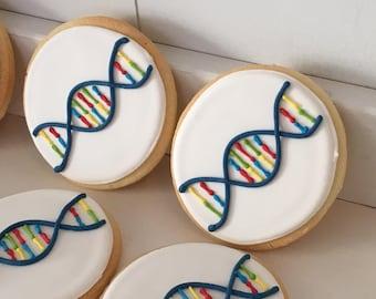 DNA Double Helix Science Cookies - 1 dozen