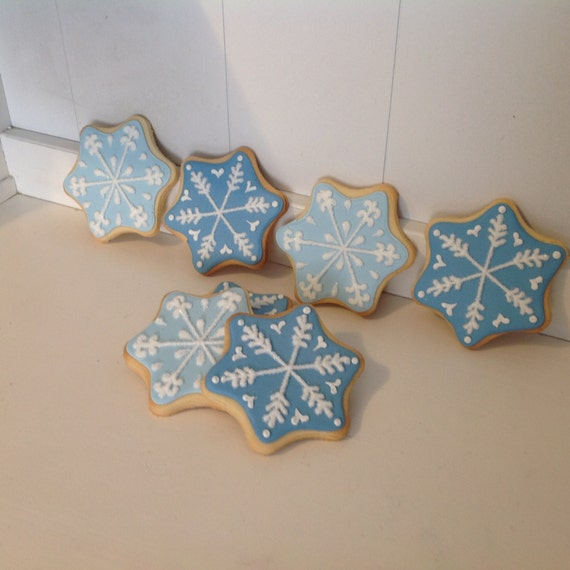 Snowflake Sugar Christmas Cookies 1 Dozen