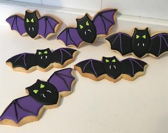 Bat Halloween Cookies - 1 Dozen