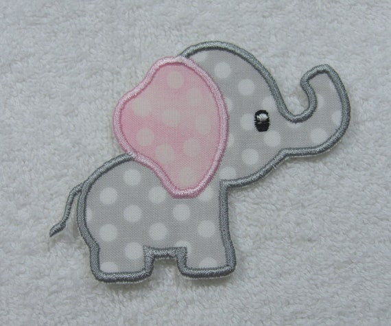 #2997 Elephant Embroidery Iron On Applique Patch