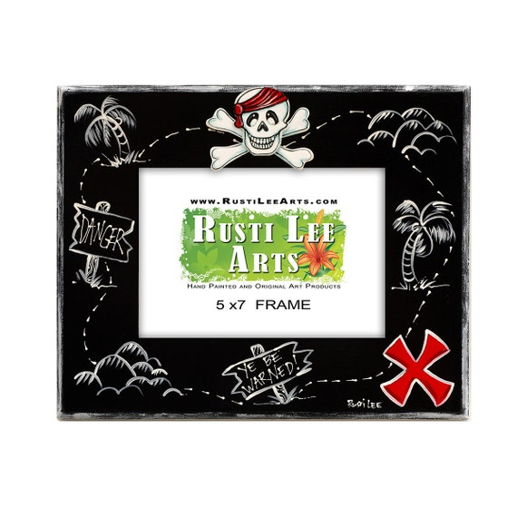 Pirate Treasure Map Picture Frame 5x7 Etsy