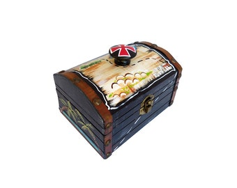 Pirate Treasure Chest Trinket Box