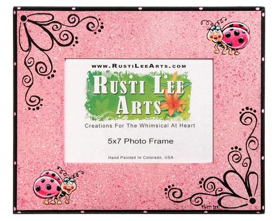 Pink Ladybug Picture Frame 5x7 Etsy