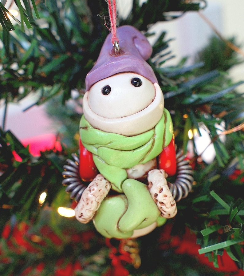 SNOWMAN Snowbot Robot Jet-Pack Geeky Christmas Ornament image 0