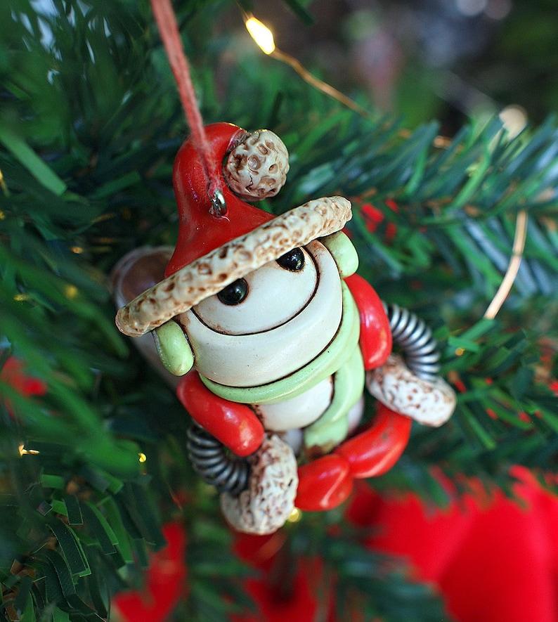 Robot Snowman Snowbot Christmas Ornament Jet-Pack Geeky unisex image 0